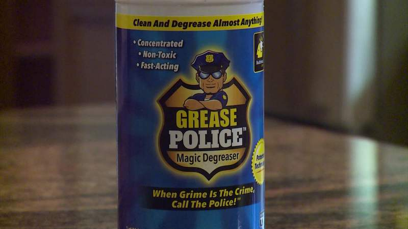 Can $10 cleaner 'Grease Police' banish dozens of types of stains?