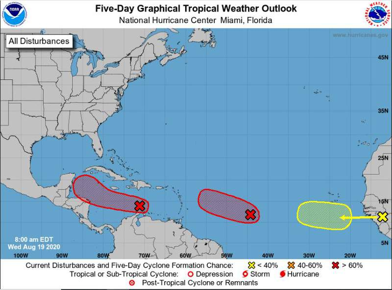 Three Areas for potential Tropical Develoment