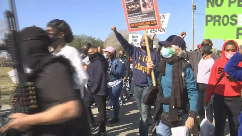 Joshua Feast's Family & Activists March for Justice