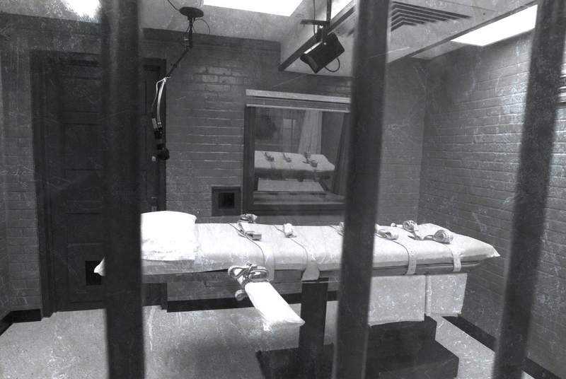 Interior of Death Chamber by Texas Department of Criminal Justice.