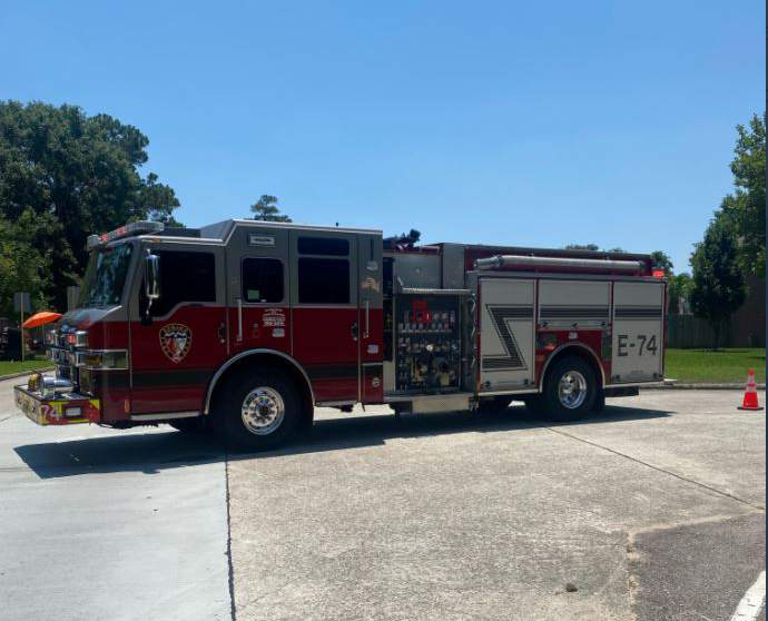 Spring Fire Department and Harris County Precinct 4 constables responded to a gas leak around 1 p.m. in the 24800 block of Birmanwood Boulevard.