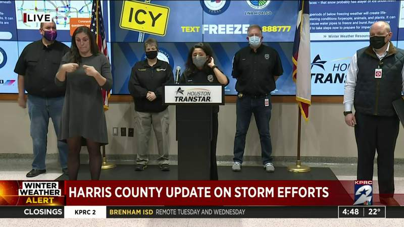 Harris County Judge gives updates on storm efforts