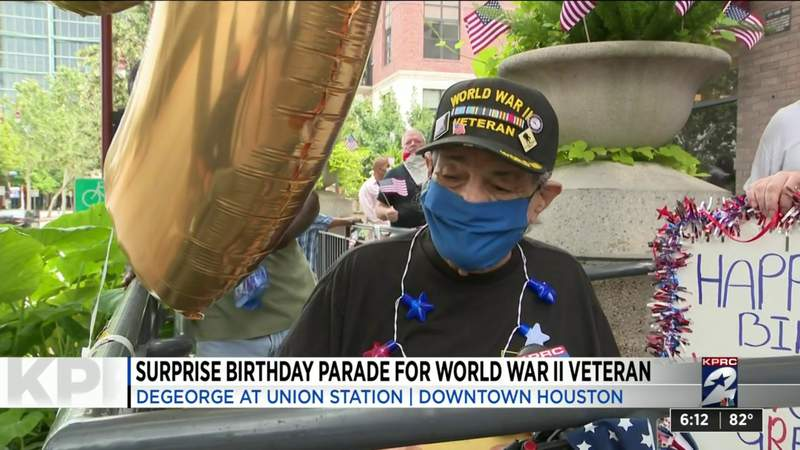 One Good Thing: Surprise birthday parade for World War II veteran in downtown Houston