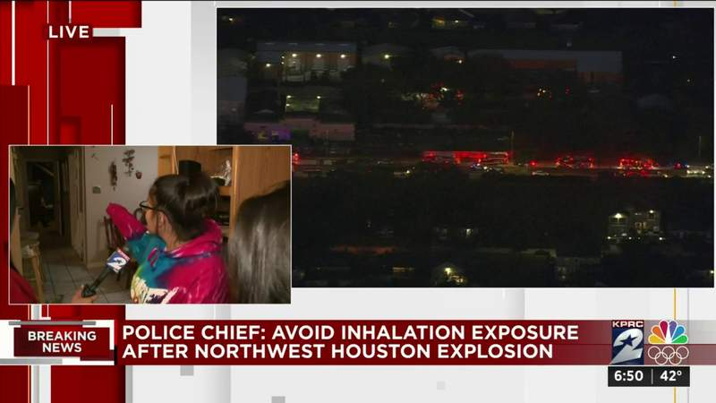 Resident shows damage to home after northwest Houston explosion