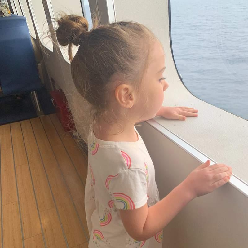 Analisa looks out across Lake Michigan