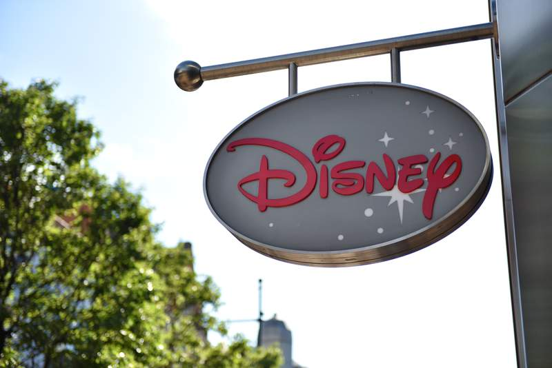 Disney Store sign. (Getty Images)
