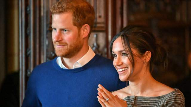 Prince Harry, at left, and his bride-to-be, Meghan Markle