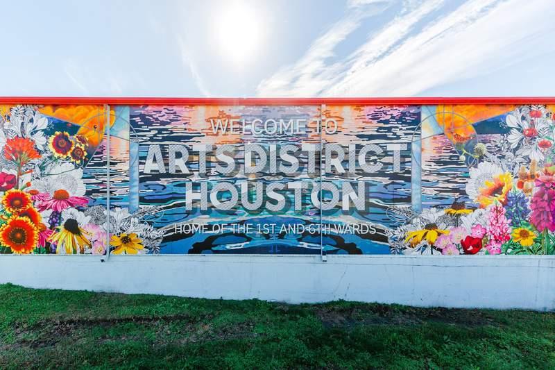 Art mural at Arts District Houston