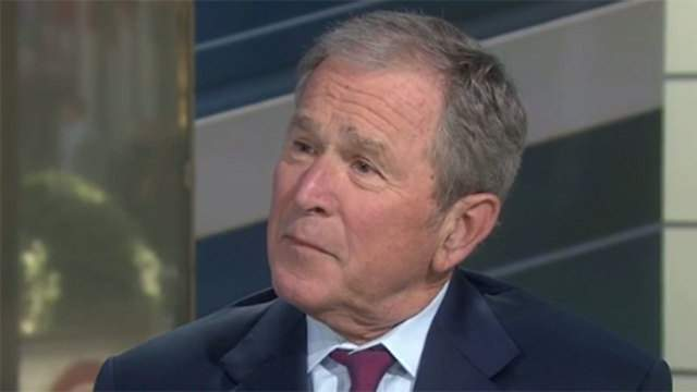 """Former President George W. Bush speaks during an interview on """"Today"""" on Feb. 27, 2017."""