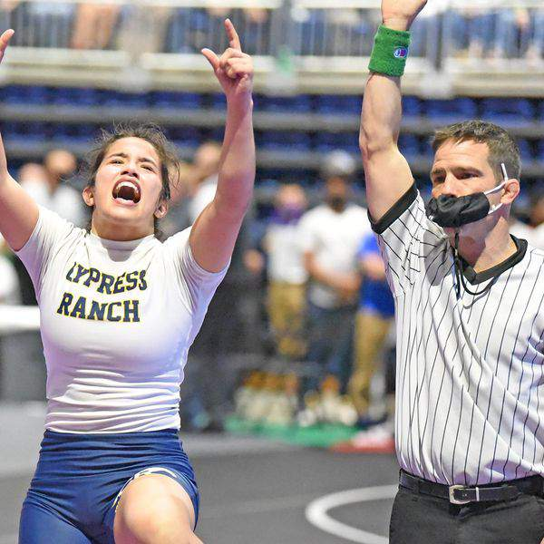 Cy Ranchs Bazemore wins wrestling title; 10 CFISD athletes medal