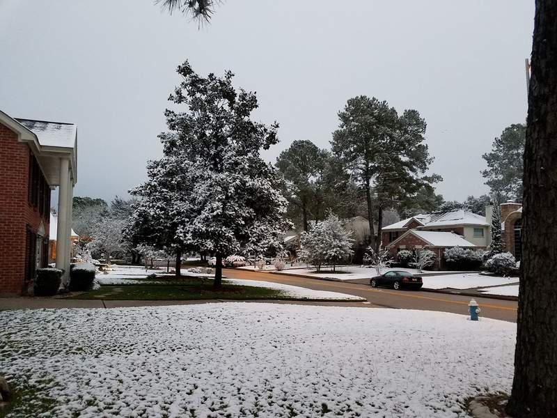 Viewer photo of snow in Texas