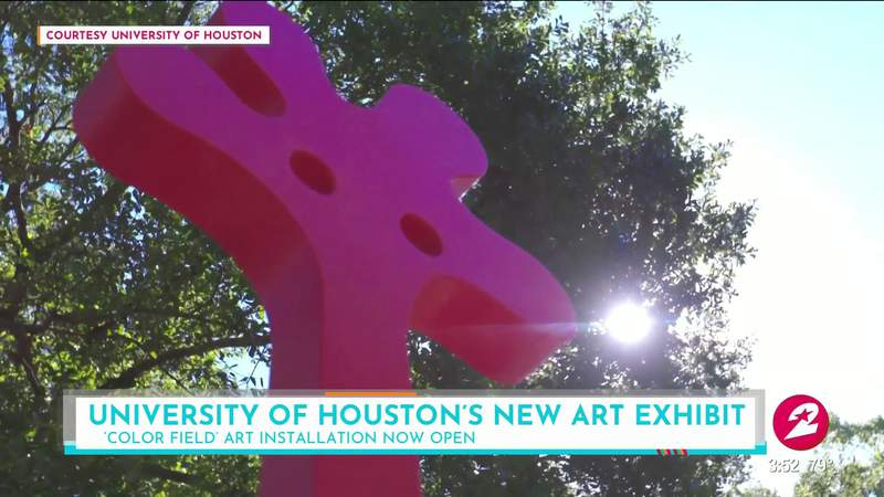 New 'Color Field' art installation at U of H sure to brighten your day   HOUSTON LIFE   KPRC 2