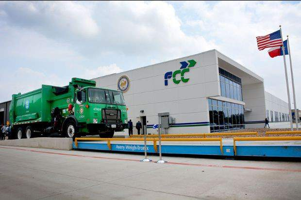 Houston's Solid Waste Management Department recycling processing partnership with Fomento de Construcciones y Contractas (FCC) has been named as the best recycling facility in America for this year.