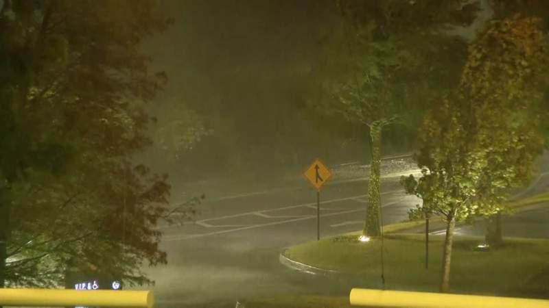Hurricane Laura bring heavy rain and wind to areas in Louisiana.