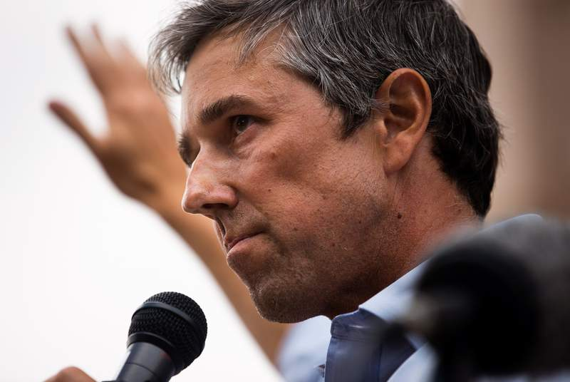Former U.S. Rep. Beto ORourke, D-El Paso, speaks at Texans Rally for Our Voting Rights at the Texas Capitol in Austin on May 8, 2021. Critics of SB 7 claim that the legislation suppresses voting rights by limiting and changing state voting procedures.