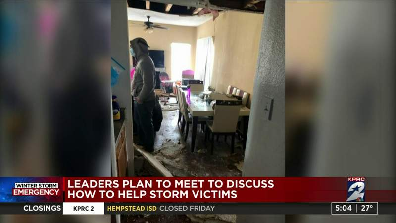 Leaders plan to meet to discuss how to help storm victims