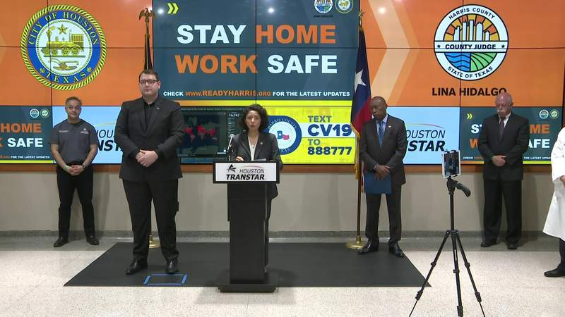 Officials issue stay-home-work-safe order for Harris County, Houston