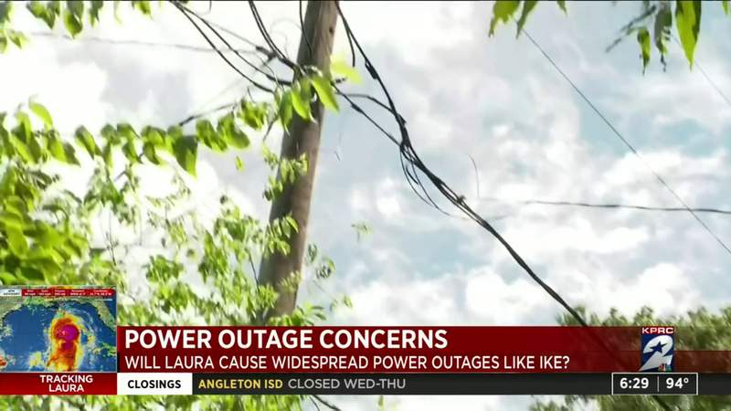 Hurricane Laura brings power outage concerns