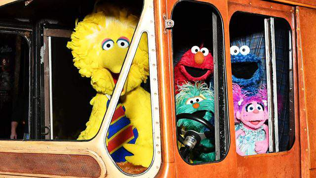"""Some of the """"Sesame Street"""" characters, including Big Bird, Elmo, Cookie Monster and Abby Cadabby (Slaven Vlasic/Getty Images for HBO)."""