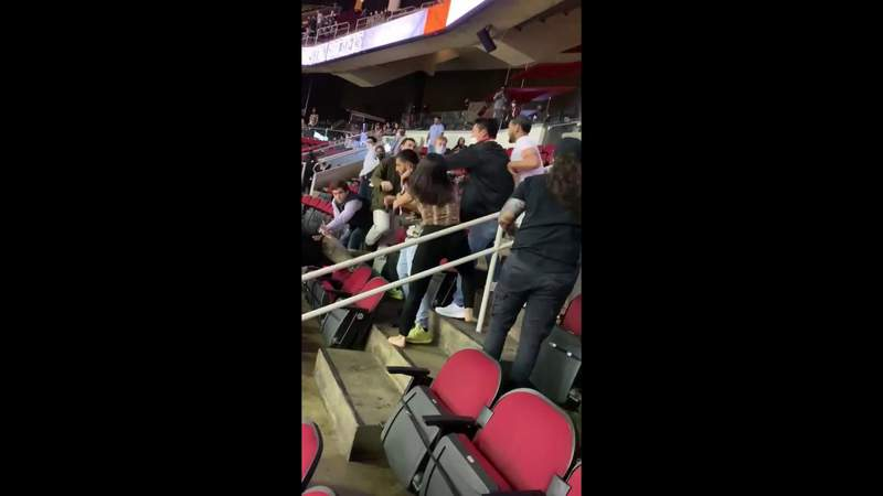Video shows brawl between Spurs, Rockets fans at Houston game