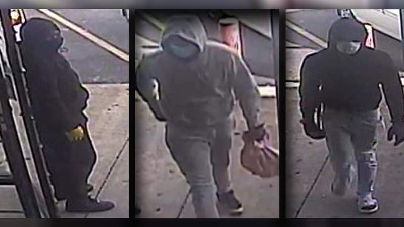 Authorities searching for men involved in a jewelry store robbery.