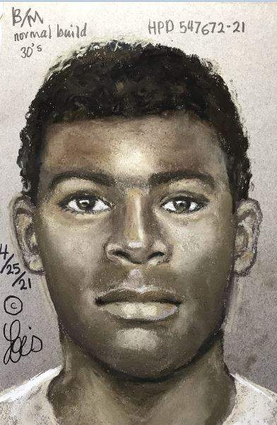 A sketch photo was released of a man accused of fatally shooting another man at an apartment complex in northwest Houston on April 25, according to the Houston Police Department.
