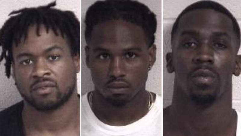 Darius Charles, left, Gary Charles and Demauria Haywood. Damien Charles was also arrested (not pictured)
