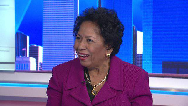Ruth Simmons, President of Prairie View A&M University, during her interview with Khambrel Marshall for both Black History Month and Newsmakers, in February 2019, at the KPRC's studio.