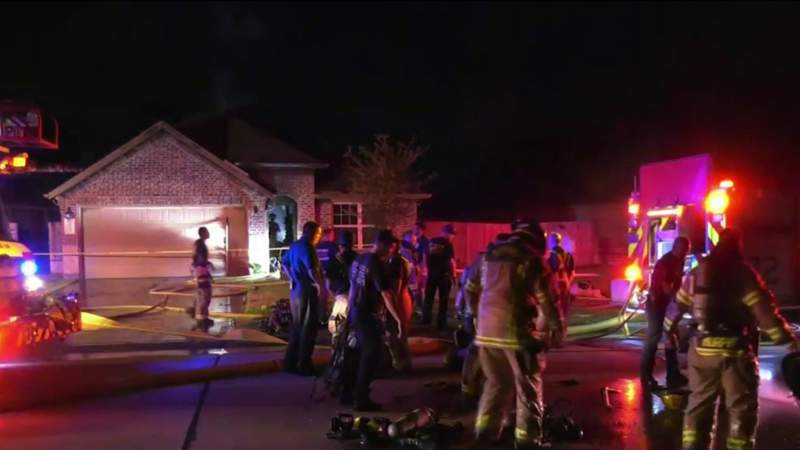 Elderly woman dead after fire rips through home in Spring