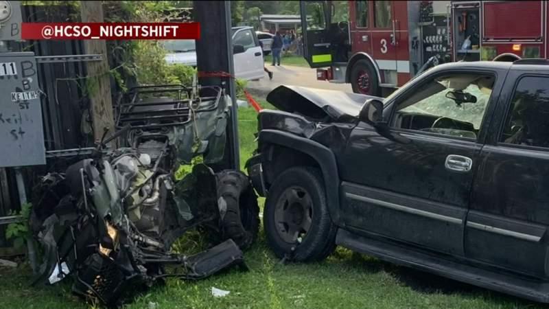 Child, teen girl seriously hurt in crash