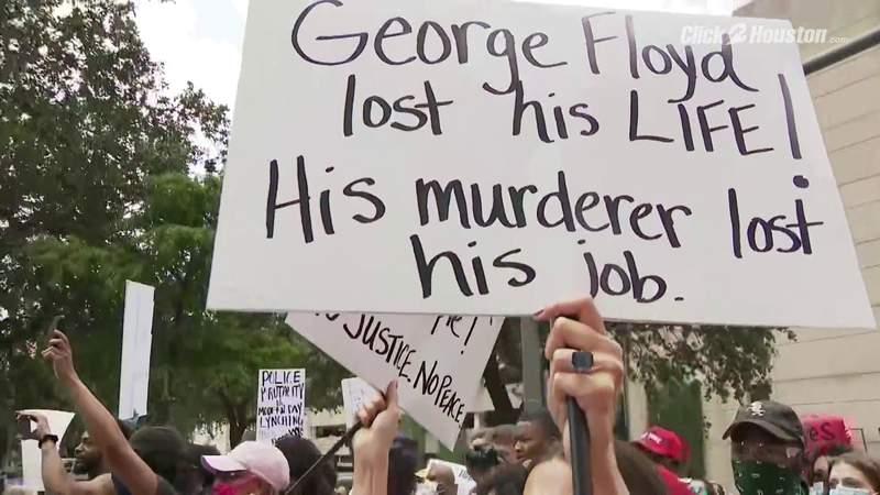Black Lives Matter protest in Houston seeking justice for George Floyd pt. 5