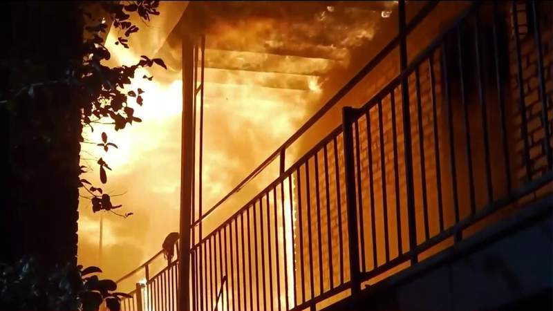 Two firefighters injured in apartment fire