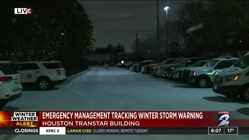 Emergency management tracking winter storm warning