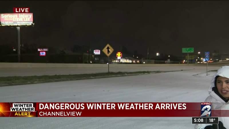 Dangerous winter weather arrives in Channelview
