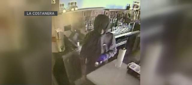 Surveillance footage of a break-in at La Costanera restaurant in Montara.