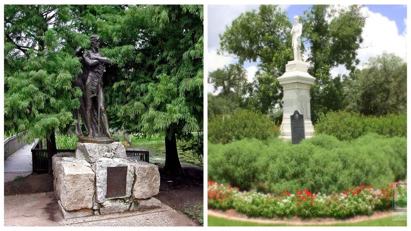 2 confederate statues in Houston to be relocated from public parks in commemoration of Juneteenth, Turner says