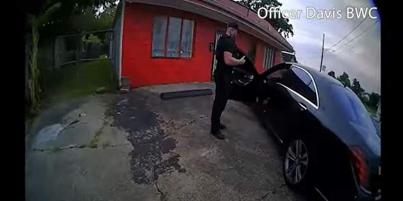 Image from Houston police body-worn camera footage, as released on Sept. 24, 2021.
