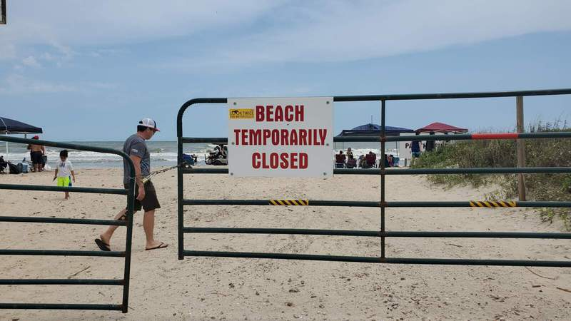 Brazoria County 4th of July weekend beach closures