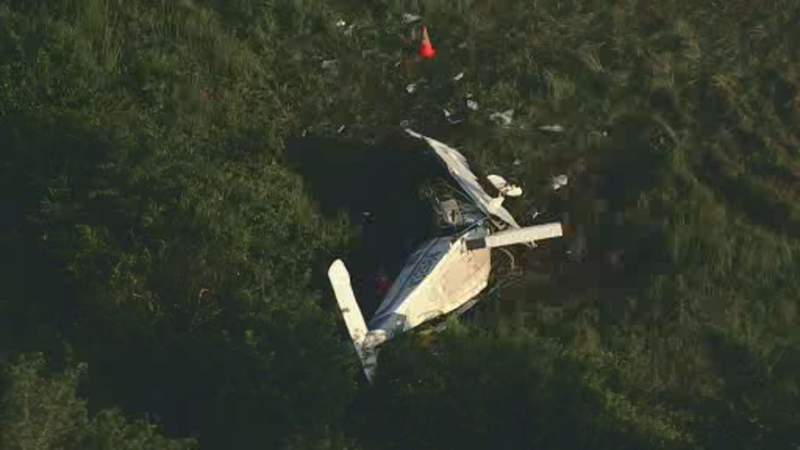 Pilot killed and five injured after small plane crashes in Madisonville.