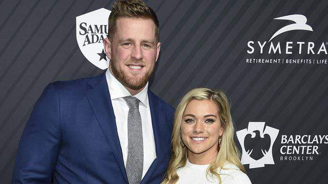 Sportsperson of the year honoree J.J. Watt and Kealia Ohai attend the Sports Illustrated 2017 Sportsperson of the Year Awards at the Barclays Center on Tuesday, Dec. 5, 2017, in New York.