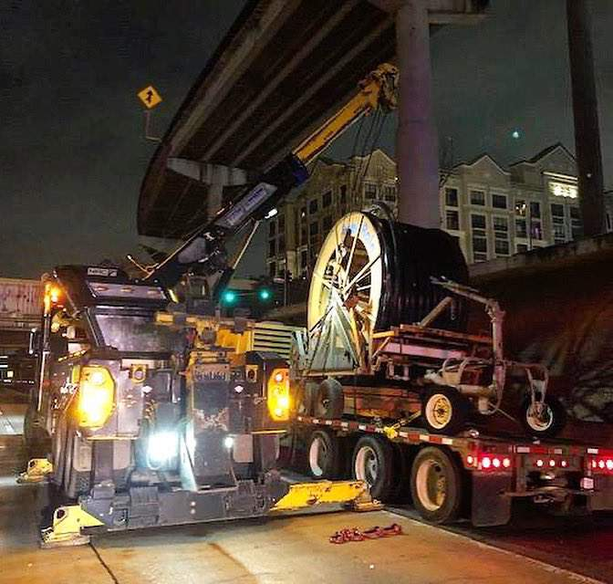 An over-height heavy truck is stuck on a bridge structure on Eastex Freeway southbound at Jefferson Thursday night, according to the Texas Department of Transportation.