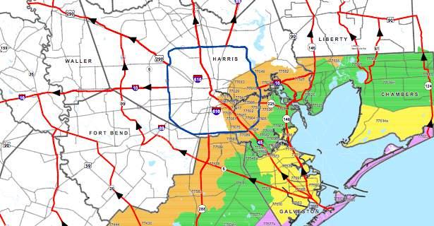 Evacuation zones map