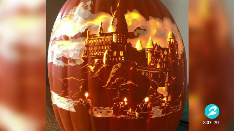 Local pumpkin carving artist shares amazing creations for National Pumpkin Day   HOUSTON LIFE   KPRC 2