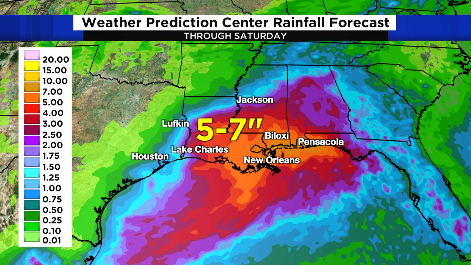 Heavy rain is coming across parts of the Deep South from Tropical Storm Nicholas