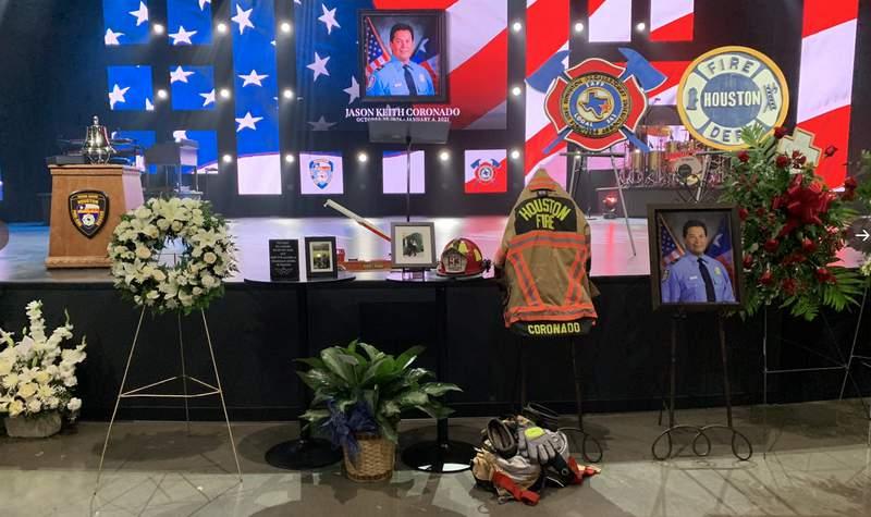 HFD Senior Captain Jason Coronado laid to rest Wednesday.