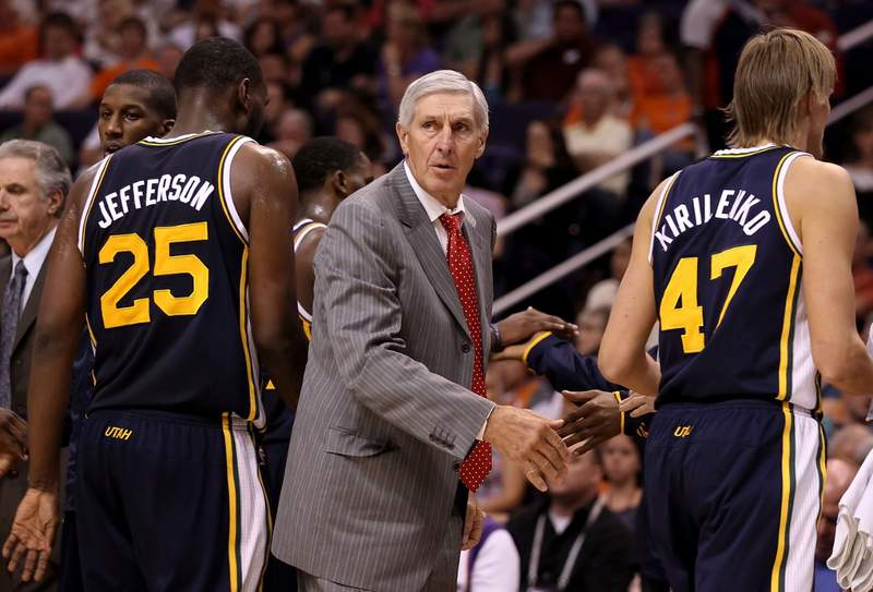 Jerry Sloan, the coach who took the Utah Jazz to the NBA Finals in 1997 and 1998 on his way to a spot in the Basketball Hall of Fame, died Friday. He was 78. Courtesy: Getty Images