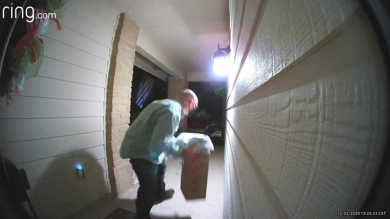 Porch pirate caught on video stealing packages in Live Oak