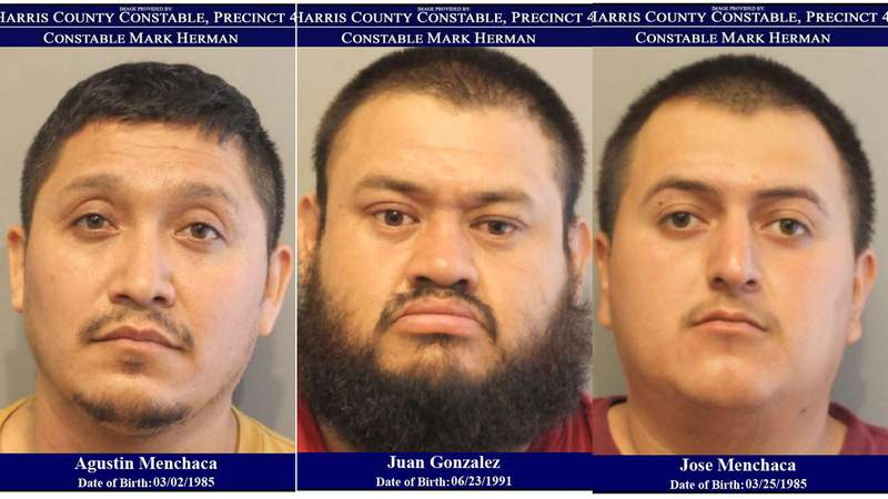 Agustin Menchaca, Juan Gonzalez, and Jose Menchaca have been charged with theft.