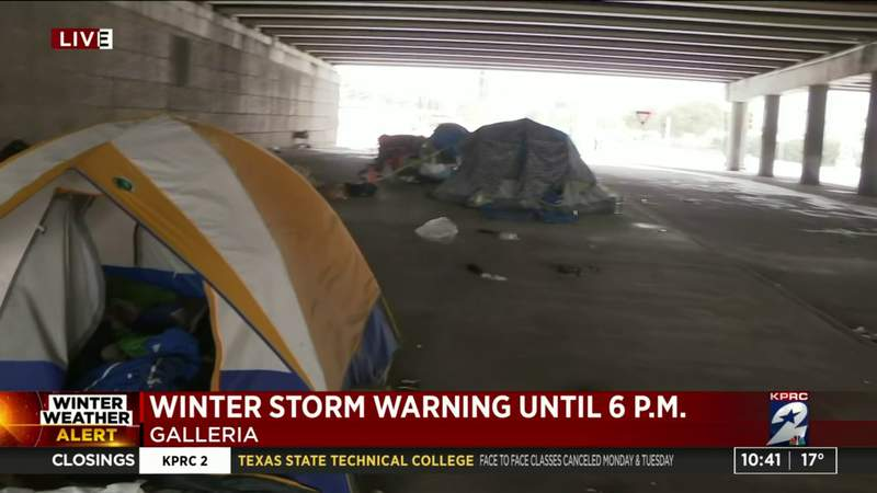 Winter conditions affecting homeless population in Houston