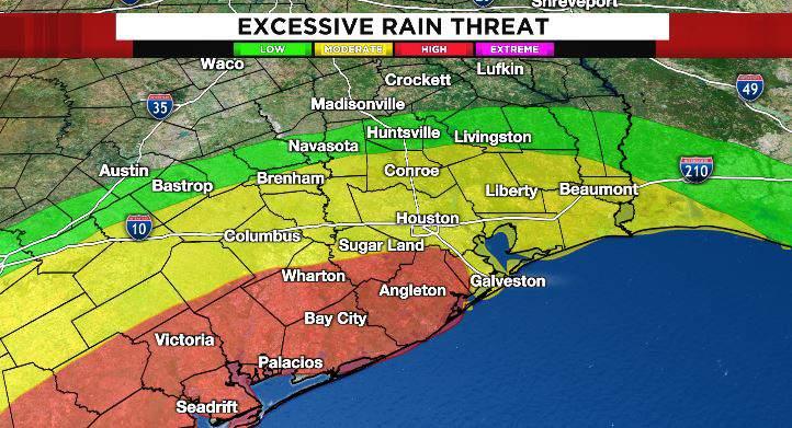 Heavy rain will once again pound across the south coast